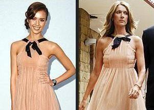 Gwiazdy w identycznych sukienkach