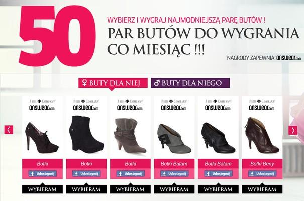 Wybierz buty i... wygraj je!