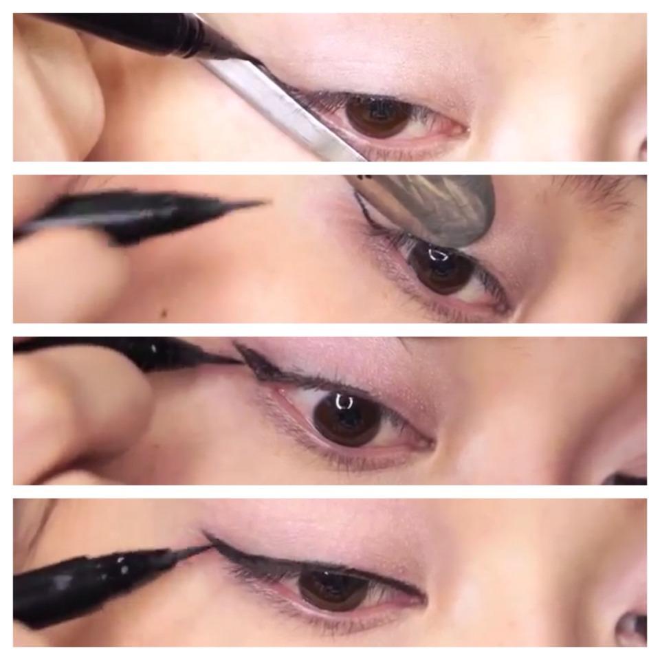 Как сделать стрелки на глазах самой себе