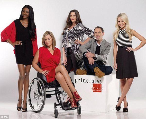 Debenhams z modelkami na wózkach inwalidzkich