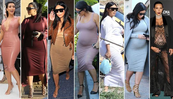 Podsumowanie stylizacji Kim Kardashian z drugiej ciąży