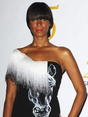 Leona Lewis w sukni z nadrukiem (FOTO)