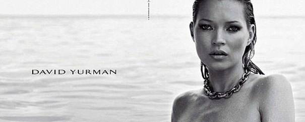 Naga Kate Moss w kampanii Davida Yurmana