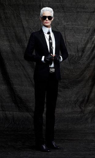 Karl Lagerfeld dla Harper's Bazaar