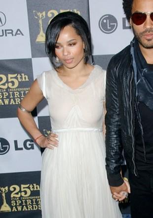 Zoe Kravitz w przeźroczystej sukni