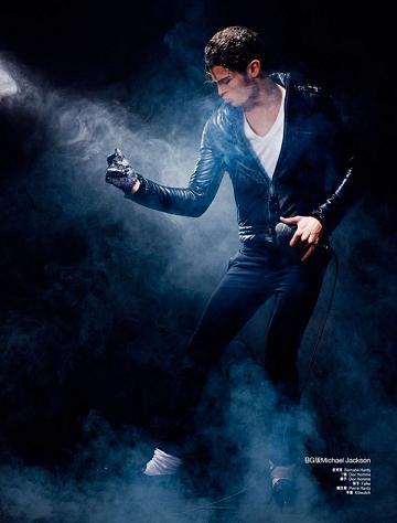 Baptiste Giabiconi jako Lady GaGa i Michael Jackson