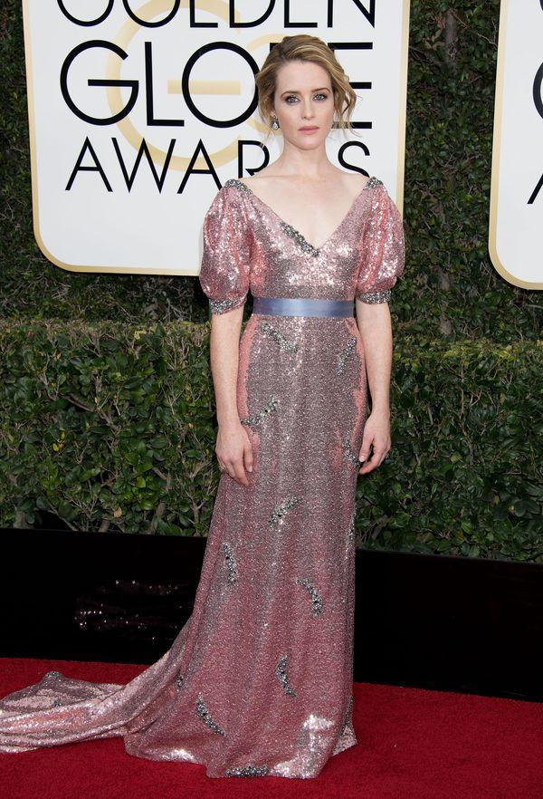 Złote Globy 2017 - najlepsze kreacje wg magazynu Vogue Na zdjęciu: Claire Foy w sukience Erdem