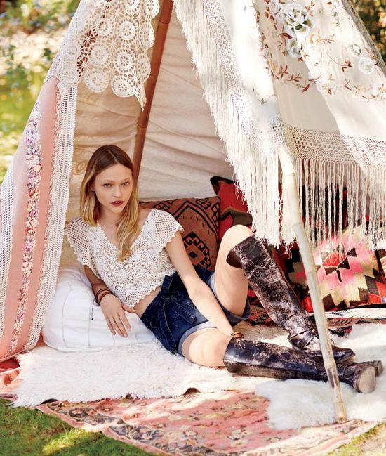 Sasha Pivovarova w styczniowym lookbooku Free People
