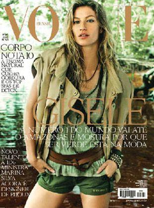 Gisele Bundchen na czterech okładkach Vogue Brazil!