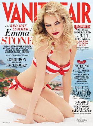 Zmysłowa Emma Stone w Vanity Fair