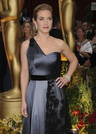 Kate Winslet w swojej oscarowej sukni
