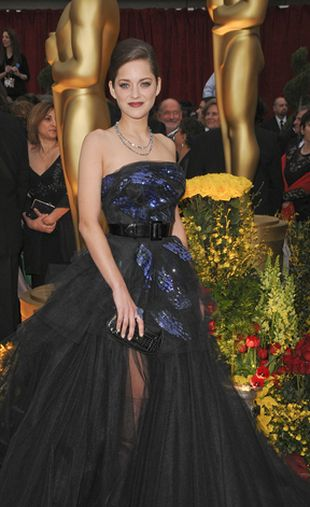 Czarny Dior Marion Cotillard