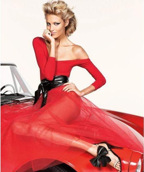 Anja Rubik w kampaniach marki Giuseppe Zanotti