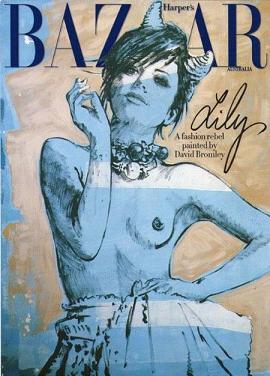 Szkicowana Lily Allen na okładce Harper's Bazaar