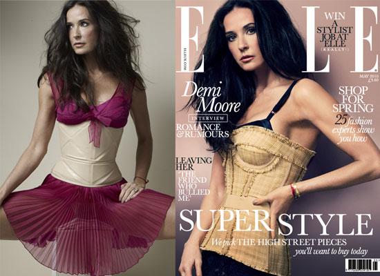 Demi Moore na okładkach majowego Elle