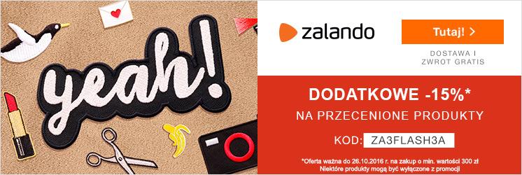 Jesienne -15% od obniżonej ceny na Zalando.pl