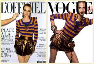 Dwie okładki - ten sam Louis Vuitton