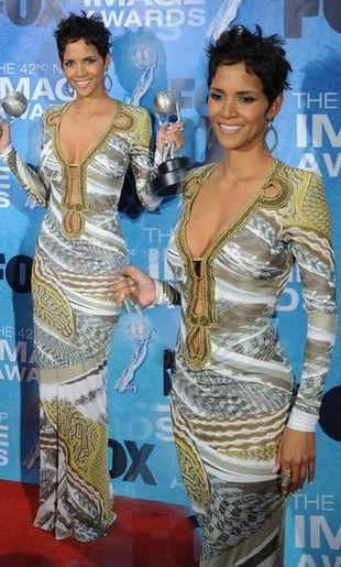 Halle Berry w oryginalnej sukience