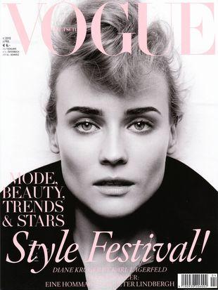 Diane Kruger w obiektywnie Lagerfelda