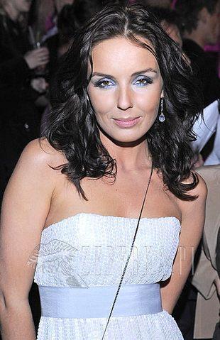 Niebieski makijaż Agnieszki Włodarczyk