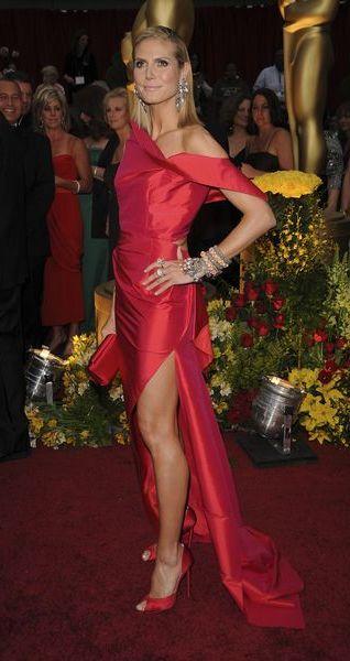 Heidi Klum - czerwony bałagan