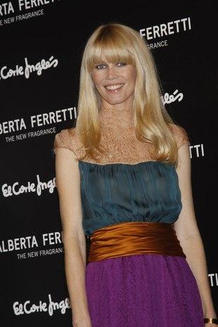Claudia Schiffer na premierze nowego zapachu