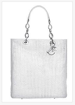 Biała torba Dior
