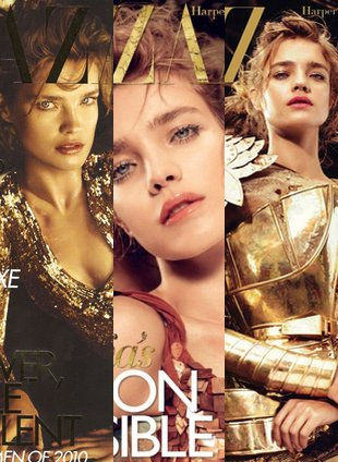 Trzy okładki Harper's Bazaar z Natalią Vodianovą (FOTO)