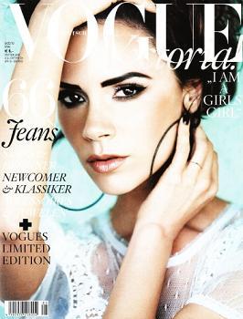 Victoria Beckham na okładce niemieckiego wydania Vogue
