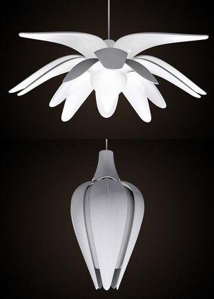 Inteligentna lampa w kształcie kwiatu