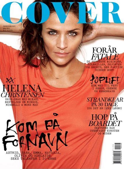 Helena Christensen na okładkach magazynów modowych