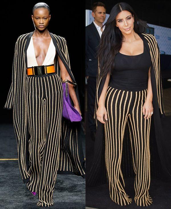 Stylizacje Kim Kardashian - wybieg kontra rzeczywistość