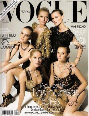 Znudzone modelki na okładce hiszpańskiego Vogue'a