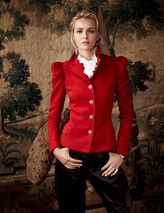 Valentina Zalyaeva w kampanii Ralph Lauren Holiday 2013