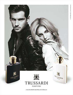 Anja Rubik w kampanii Trussardi Fragrance