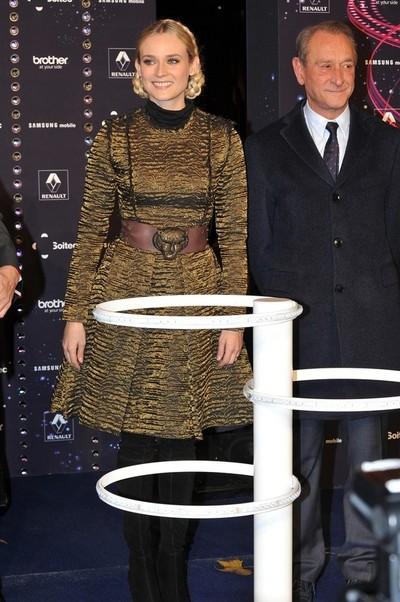 Diane Kruger na czerwonych dywanach