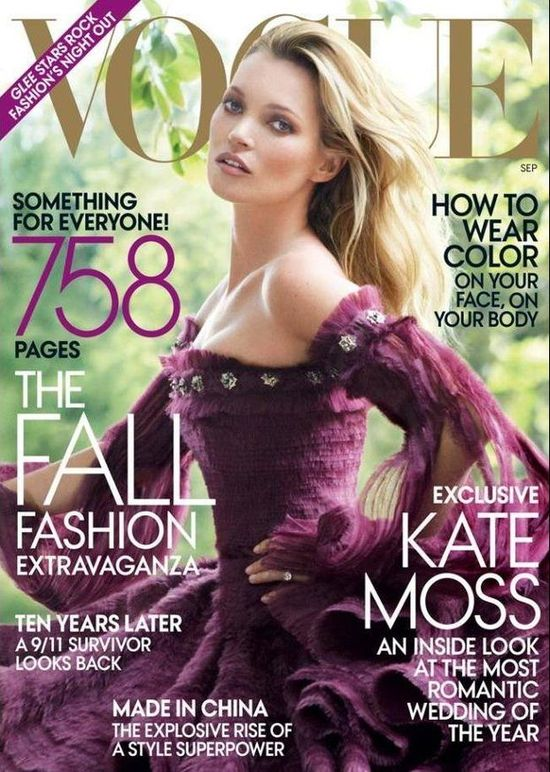 Okładki Kate Moss