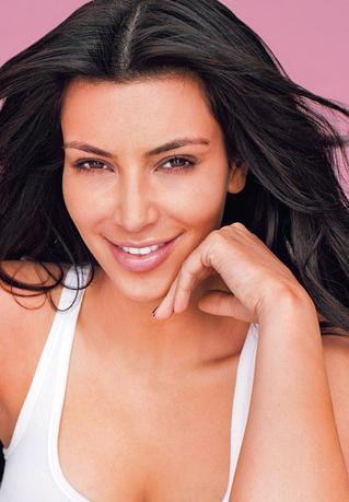 Kim Kardashian bez makijażu w magazynie Life & Style