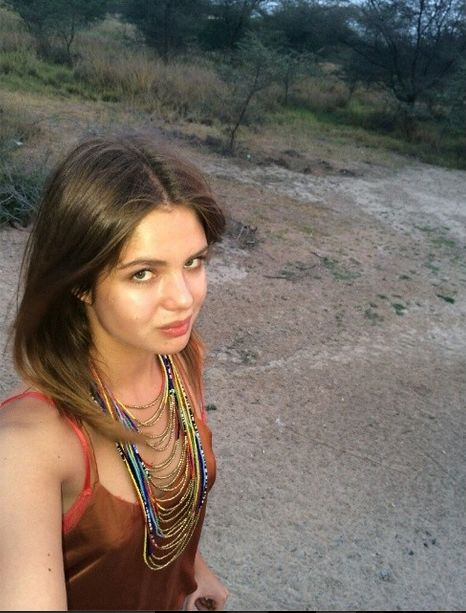 Selfie Olgi Kaczyńskiej na Instagramie