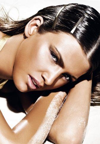 Złoty makijaż na lato