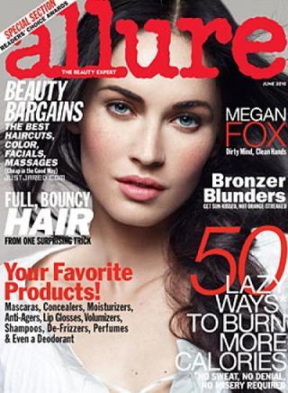 Megan Fox na okładce czerwcowego wydania magazynu Allure