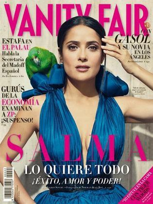 Salma Hayek na okładce hiszpańskiego wydania Vanity Fair