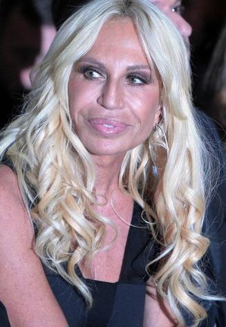 Twarz Donatelli Versace na liście najgorszych w showbiznesie