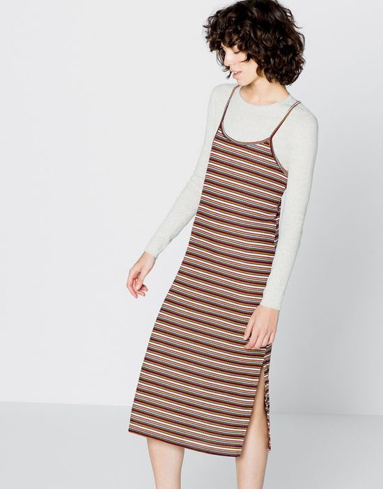 Pull & Bear Terracotta Stripes