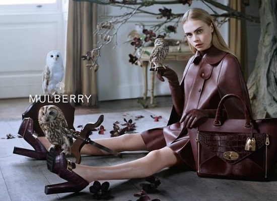 Cara Delevingne w kampanii Mulberry jesień-zima 2013/2014