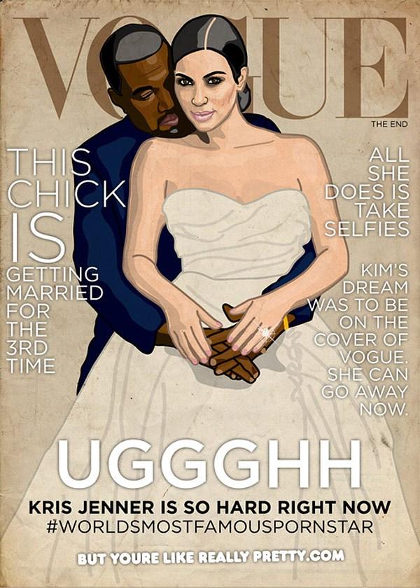 Internet drwi z sesji Kim Kardashian w Vogue
