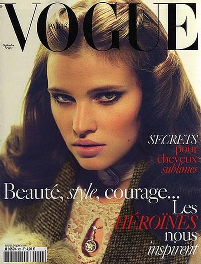 Lara Stone na okładkach magazynu Vogue