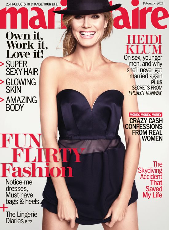 Heidi Klum na okładkach magazynów