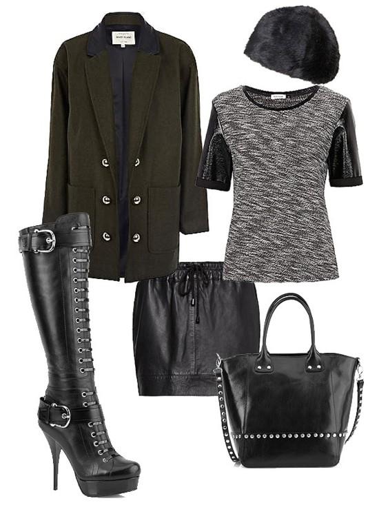 Stylizacje w stylu glam rock na jesień 2012