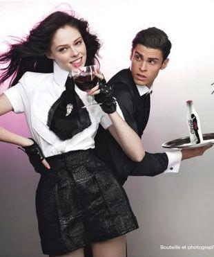 Coco Rocha i Baptiste Giabiconi w kampanii Coca Coli